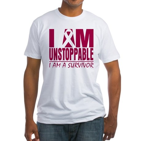Unstoppable Head Neck Cancer Fitted T-Shirt