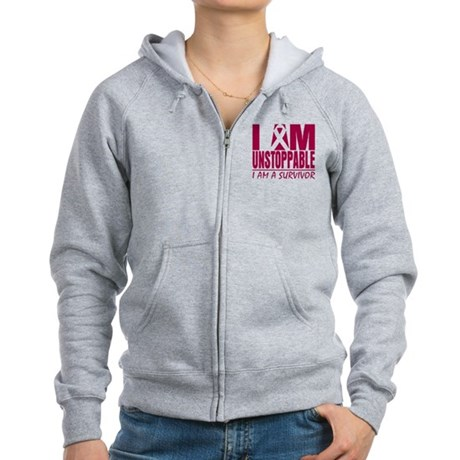 Unstoppable Head Neck Cancer Women's Zip Hoodie
