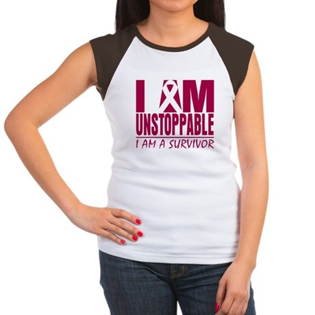 Unstoppable Head Neck Cancer Women's Cap Sleeve T-