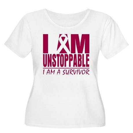 Unstoppable Head Neck Cancer Women's Plus Size Sco