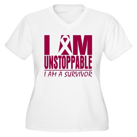 Unstoppable Head Neck Cancer Women's Plus Size V-N