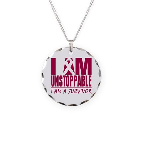 Unstoppable Head Neck Cancer Necklace Circle Charm