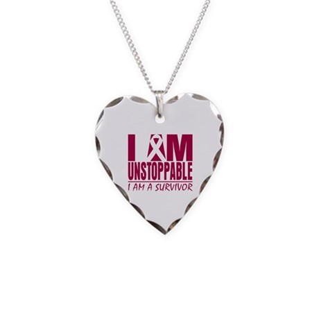 Unstoppable Head Neck Cancer Necklace Heart Charm