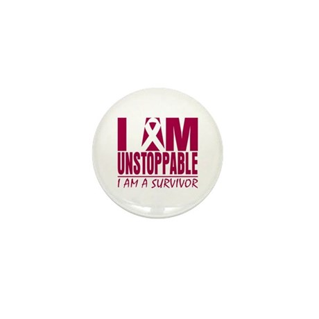Unstoppable Head Neck Cancer Mini Button