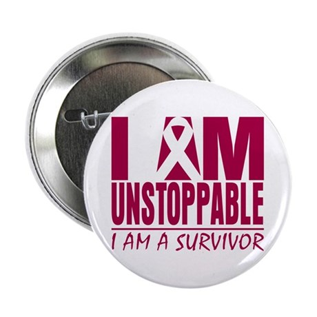 Unstoppable Head Neck Cancer 2.25&quot; Button (100 pac