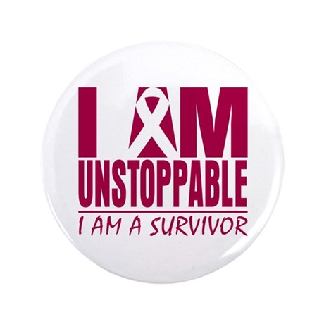 Unstoppable Head Neck Cancer 3.5&quot; Button