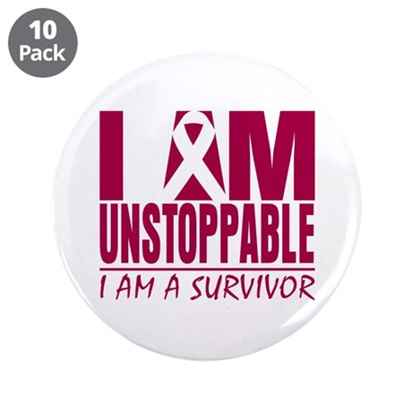 Unstoppable Head Neck Cancer 3.5&quot; Button (10 pack)