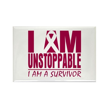 Unstoppable Head Neck Cancer Rectangle Magnet (10 