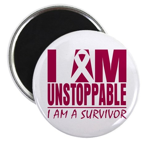 "Unstoppable Head Neck Cancer 2.25"" Magnet (100 pac"