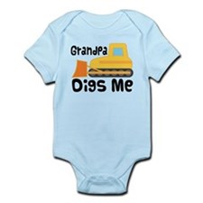 Love Grandpa Bulldozer Infant Bodysuit