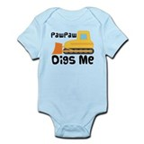 Paw Paw Digs Me Bulldozer Infant Bodysuit