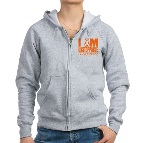 Unstoppable Kidney Cancer Women's Zip Hoodie