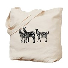 Unique Zebras Tote Bag