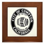 Compton City Seal Framed Tile
