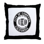 Compton City Seal Throw Pillow