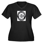 Compton City Seal Women's Plus Size V-Neck Dark T-
