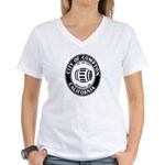 Compton City Seal Women's V-Neck T-Shirt