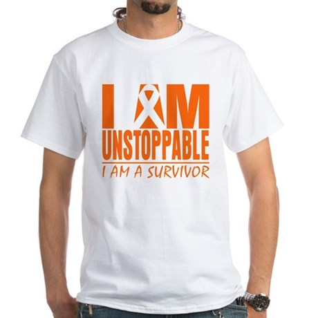 I am Unstoppable Leukemia White T-Shirt