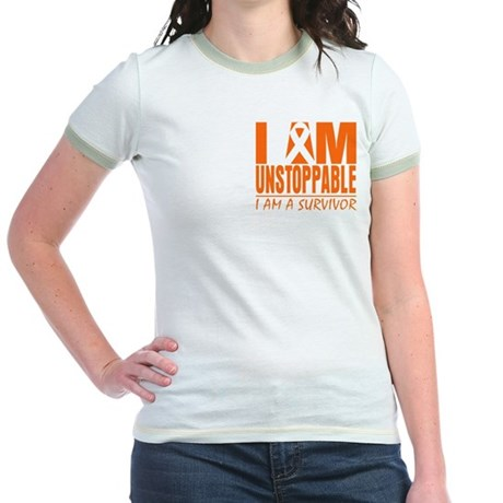 I am Unstoppable Leukemia Jr. Ringer T-Shirt