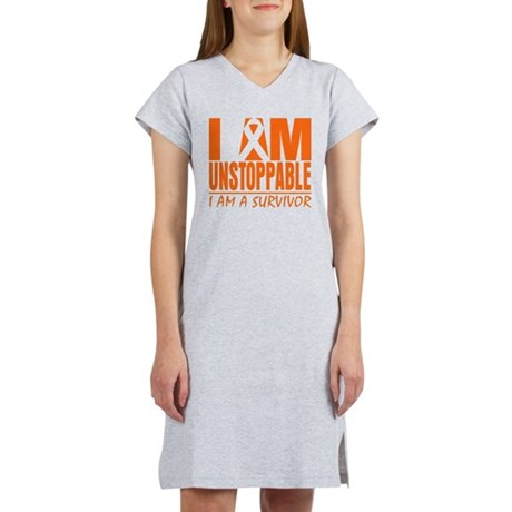 I am Unstoppable Leukemia Women's Nightshirt