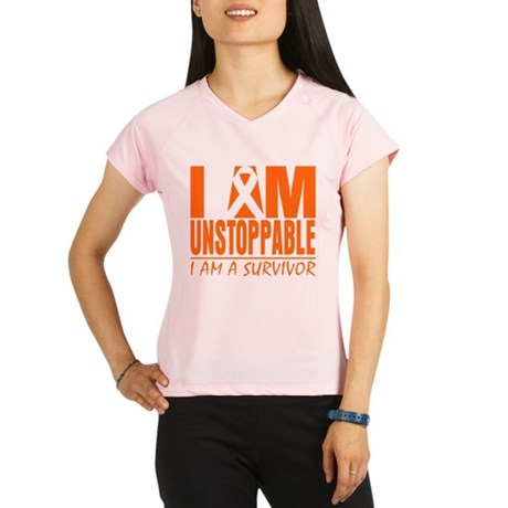 I am Unstoppable Leukemia Performance Dry T-Shirt