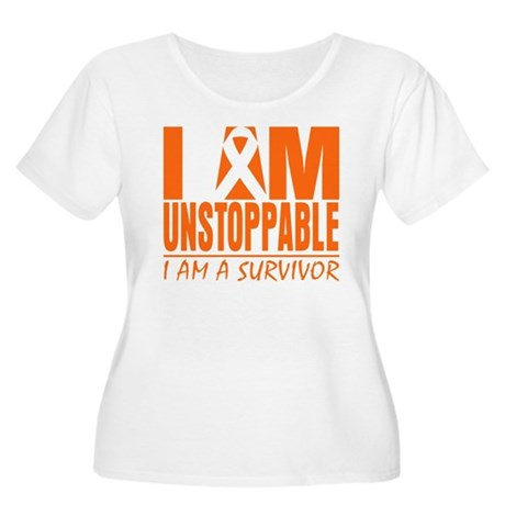 I am Unstoppable Leukemia Women's Plus Size Scoop