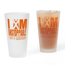I am Unstoppable Leukemia Drinking Glass