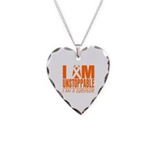 I am Unstoppable Leukemia Necklace