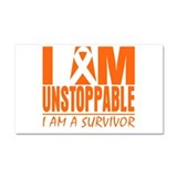 I am Unstoppable Leukemia Car Magnet 20 x 12