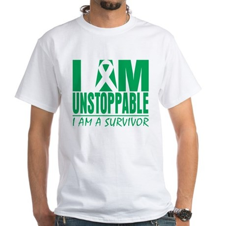 Unstoppable Liver Cancer White T-Shirt