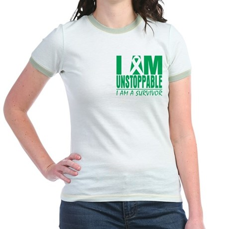Unstoppable Liver Cancer Jr. Ringer T-Shirt