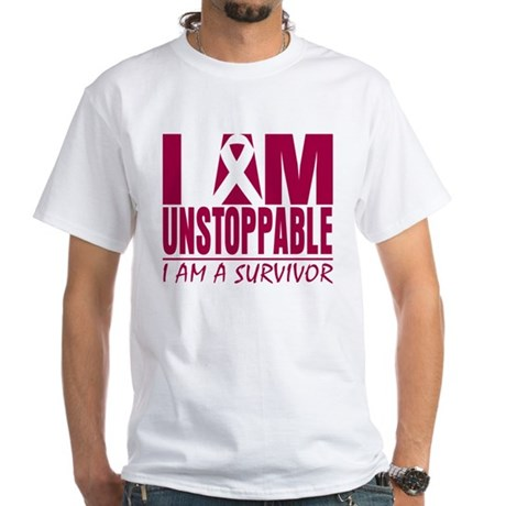 Unstoppable Multiple Myeloma White T-Shirt