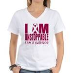 Unstoppable Multiple Myeloma Women's V-Neck T-Shir