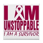 Unstoppable Multiple Myeloma Tile Coaster
