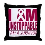 Unstoppable Multiple Myeloma Throw Pillow