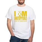 Unstoppable Neuroblastoma White T-Shirt