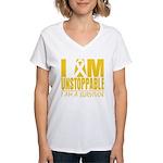 Unstoppable Neuroblastoma Women's V-Neck T-Shirt