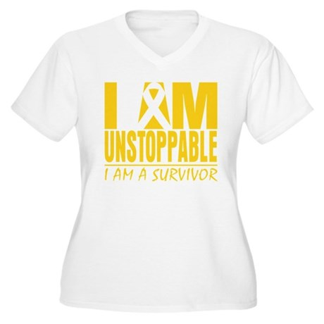 Unstoppable Neuroblastoma Women's Plus Size V-Neck