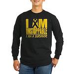 Unstoppable Neuroblastoma Long Sleeve Dark T-Shirt