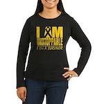 Unstoppable Neuroblastoma Women's Long Sleeve Dark