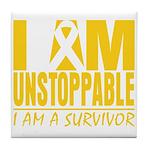 Unstoppable Neuroblastoma Tile Coaster