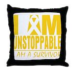 Unstoppable Neuroblastoma Throw Pillow