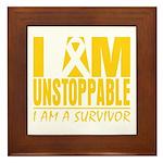 Unstoppable Neuroblastoma Framed Tile