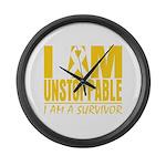 Unstoppable Neuroblastoma Large Wall Clock