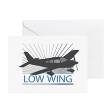 Aircraft Low Wing Greeting Cards (Pk of 10)
