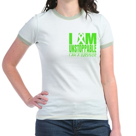 I Am Unstoppable Lymphoma Jr. Ringer T-Shirt