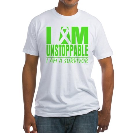 I Am Unstoppable Lymphoma Fitted T-Shirt