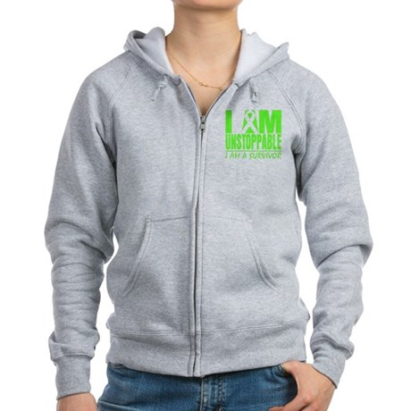 I Am Unstoppable Lymphoma Women's Zip Hoodie