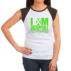 I Am Unstoppable Lymphoma Women's Cap Sleeve T-Shi