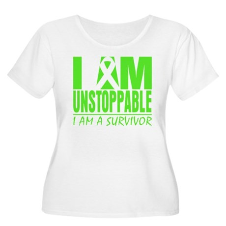 I Am Unstoppable Lymphoma Women's Plus Size Scoop